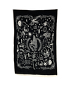 "Indian Cotton Tapestry Wall Hanging Time (30""x 40"")"