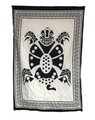 "Indian Cotton Tapestry Wall Hanging Tortoise Black & White (30""x 40"")"