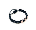 Rose Quartz + Hematite Thread bracelet