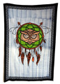 Indian Cotton Tapestry Hand Painted, Dragon Dream Catcher (135 x 220 cm)