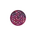 Stone Incense & Cone Burner Round Flower of Life Double Color 3""