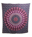 Indian Cotton Tapestry Hippie Mandala Pink Blue (210 x 240 cm)