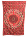Indian Cotton Tapestry Hippie Mandala Red (135cm x 220cm)