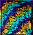 Indian Cotton Tapestry Tie & Dye Zodiac  (210 x 240 cm)