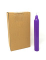 "9"" Household Candles (Pack of 12), Purple"