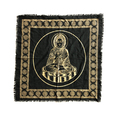"Indian Cotton Tapestry Altar Cloth Buddha 24"" x 24"""