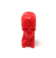 Decorative Ritual Skull / Skeleton Shaped Candle Red