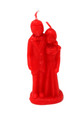 Decorative Ritual Wedding Couple Shaped Candle Red