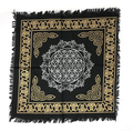 """Indian Cotton Tapestry Altar Cloth 18""""x18"""" Flower of Life"""