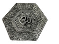 Aluminum Hexa Incense Holder Om