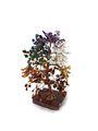 """Tree gemstones 7 Chakra 500 chips, copper wire, slice base approx. 9"""""""