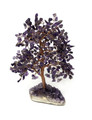"""Tree gemstones Amethyst 500 chips, copper wire, Cluster base approx. 10"""""""