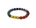 Beads Bracelet 7 Chakra with rings (Beads approx. 8mm)