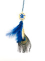 """Dream catcher #69 peckock feather w/ charms 6""""-7"""" approx"""
