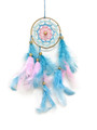 Dream Catcher #53 PinkNBlue star w/ feathers
