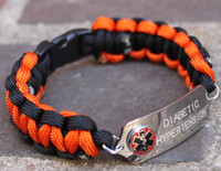 Two Sided Medical Alert Bracelet (Choose your colors)