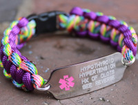 Two Sided Medical Alert Bracelet (Choose your colors)