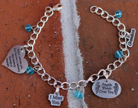 Create Your Own Charm Bracelet (Choose your bead colors and charms)