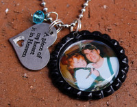 Circle Photo Necklace (Choose your Frame Color and Charm)