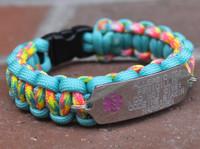 One Sided Medical Alert Bracelet (Choose your colors)