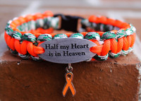 """Half My Heart is in Heaven"" Charm Tag Bracelet (211)"