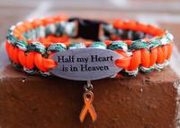 """""""Half My Heart is in Heaven"""" Charm Tag Bracelet (211)"""