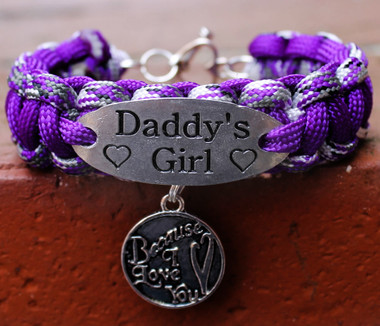 Daddy S Charm Tag Bracelet Choose Your Colors And