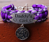"""Daddy's Girl"" Charm Tag Bracelet (Choose your colors and charm)"