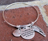 Signature Bangle Three Charm Bracelet