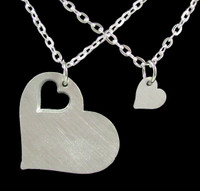Mother & Daughter Interlocking Heart Pendants