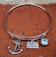 """I Refuse to Sink"" Bangle Bracelet"