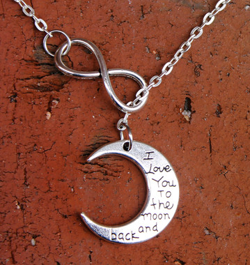 "Infinity Necklace - ""I Love You to the Moon and Back"""