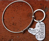 """Daddy's Girl"" Bangle and Daddy Key Chain Set"