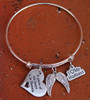 Memorial Bangle Bracelet (Choose Your Charm)