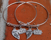 """Best"" & ""Friends"" Bangle Set"