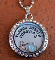 Custom Stamped Floating Charm Locket (Choose your charms and personalize)