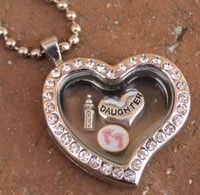 Heart Floating Locket (Choose your charms)