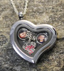 Heart Glass Floating Locket with Photo Charm
