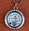"""Love beyond words, Missed beyond measure"" Floating Charm Locket (Choose your charms)"