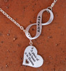 "Infinity Necklace - ""A piece of my heart is in Heaven"" with Engraving"