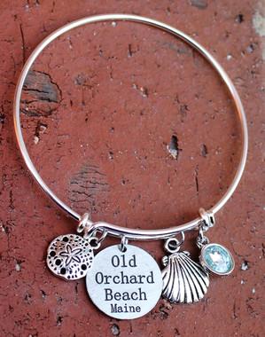 Beach Bangle Bracelet (Choose you Beaches & Charms)