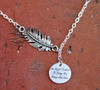 """Feather Necklace - """"An Angel Feather To Bring You Peace And Love"""""""