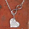 "Infinity Necklace - ""When Someone you love becomes a memory"""