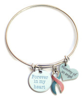 Pregnancy and Infant Loss Awareness Bangle Bracelet