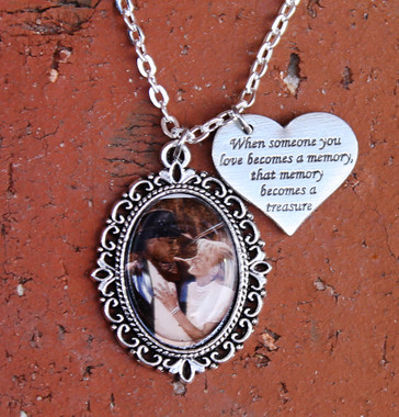 Oval Photo Necklace (Choose your Charm)