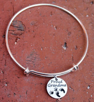 Proud Grandma Bangle Bracelet