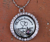 """The love between mother & son is forever"" Floating Charm Locket with a photo (Choose your charms)"