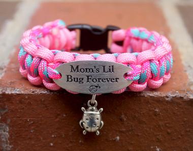 """Mom's lil Bug"" Charm Tag Bracelet"