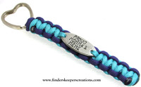 Hand Stamped Paracord Key Chain
