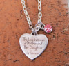 """""""The Love between a Mother and Her Daughter is Forever"""" Necklace"""
